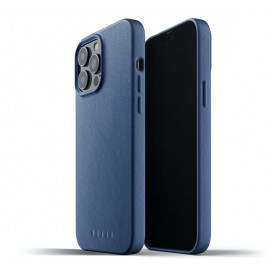 Mujjo Leather Case iPhone 13 Pro Max blue