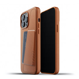 Mujjo Leather Wallet Case iPhone 13 Pro Max brown