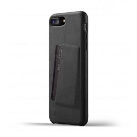 Mujjo Leather Wallet Case iPhone 7 / 8 Plus zwart