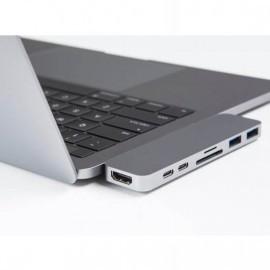 HyperDrive USB-C adapter Thunderbolt 3 space gray