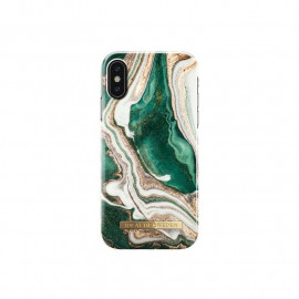 iDeal of Sweden Fashion Back Case iPhone X / XS Golden Jade Marble