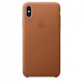 Apple Leather Case iPhone XS Max bruin