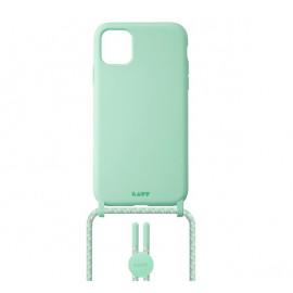 Laut Pastels case met koord iPhone 12 / iPhone 12 Pro groen