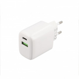 Musthavz Power Delivery oplader 20 Watt met USB-A en USB-C poort wit