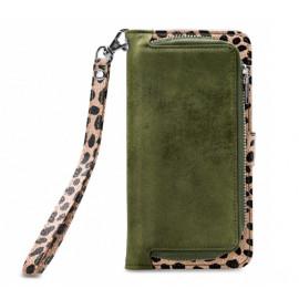 Mobilize 2in1 Gelly Wallet Zipper Case iPhone 11 Pro Max olijfgroen / leopard
