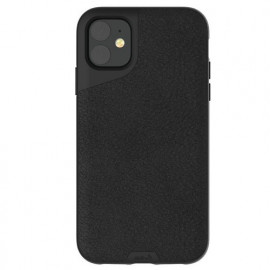 Mous Contour Leather iPhone 11 zwart