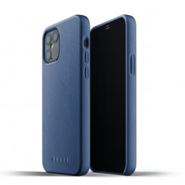 Mujjo Leather Case iPhone 12 / iPhone 12 Pro blauw
