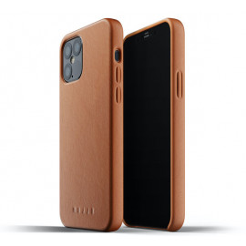 Mujjo Leather Case iPhone 12 / iPhone 12 Pro bruin