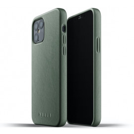 Mujjo Leather Case iPhone 12 / iPhone 12 Pro groen
