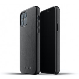 Mujjo Leather Case iPhone 12 / iPhone 12 Pro zwart