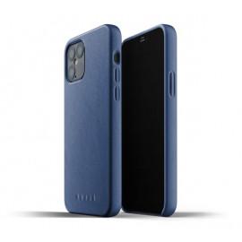 Mujjo Leather Case iPhone 12 Max / Pro blauw