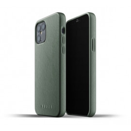 Mujjo Leather Case iPhone 12 Max / Pro groen