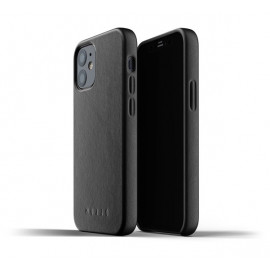 Mujjo Leather Case iPhone 12 zwart