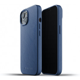 Mujjo Leather Case iPhone 13 blue