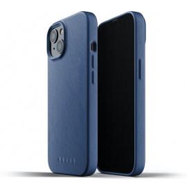 Mujjo Leather Case iPhone 13 Mini blue