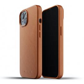 Mujjo Leather Case iPhone 13 Mini tan