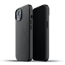 Mujjo Leather Case iPhone 13 black