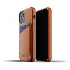 Mujjo Leather Wallet Case iPhone 12 bruin