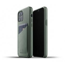 Mujjo Leather Wallet Case iPhone 12 Max / Pro groen