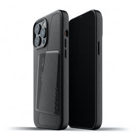 Mujjo Leather Wallet Case iPhone 13 Pro Max black