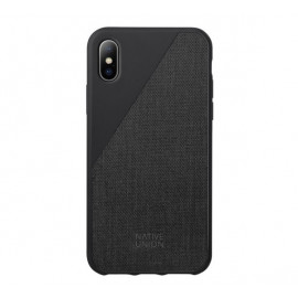 Native Union Clic Canvas case iPhone XS Max zwart
