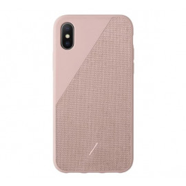 Native Union Clic Canvas case iPhone XS roze
