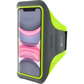 Mobiparts Comfort Fit Sport Armband Apple iPhone 11 Neon Groen