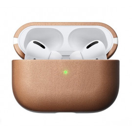 Nomad Airpods Pro Case Natural Leather bruin