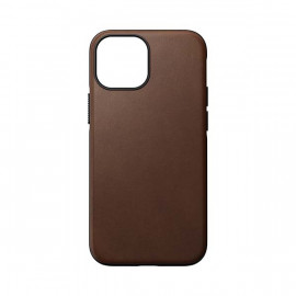 Nomad Modern Leather case Magsafe iPhone 13 Mini brown