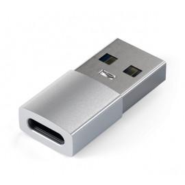 Satechi USB-A naar USB-C Adapter zilver
