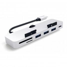 Satechi USB-C Hub Aluminium Clamp Pro zilver