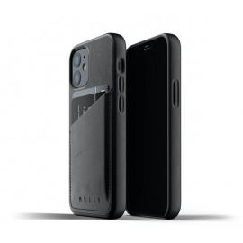 Mujjo Leather Wallet Case iPhone 12 Mini zwart