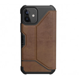 UAG Metropolis Leather Hard Case iPhone 12 / iPhone 12 Pro bruin