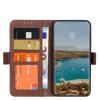 Casecentive Magnetische Leren Wallet case iPhone 12 / iPhone 12 Pro bruin